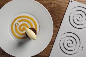 Spirale: stampo in silicone Linea Gourmand di Pavoni Professional