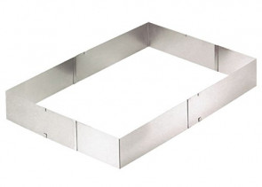 Frame - rectangular frame for adjustable cakes in stainless steel