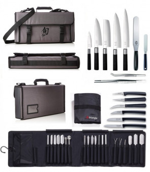PRESTIGE Case : Kai Japanese knives, Triangle carving knives and accesssories