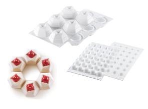 Set di 2 stampi in silicone Kit Cosmos 105 di Silikomart Professional