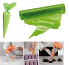 Disposable icing bags in polyethylene - color green