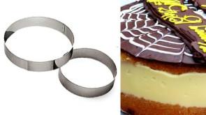 Anello per torte Altezza cm. 3,5 in inox