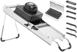 Professional Vegetable slicer 7 STAINLESS STEEL BLADES + grater
