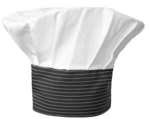 Cappello gessato nero