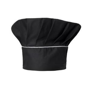 Cappello cuoco Nettuno nero di Angiolina Professional Wear