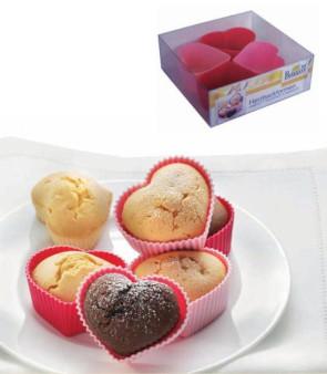Stampo cuore 4 pezzi Muffins-Desserts