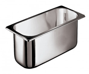 Ice cream container in stainless steel - Dim. cm. 26x16