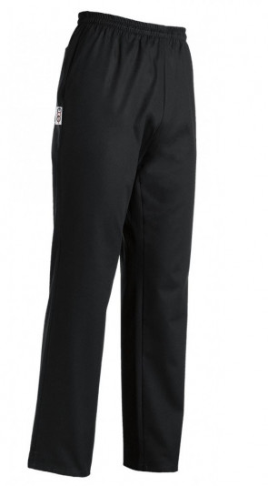 Unisex trousers with coulisse black color