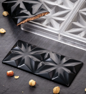 Edelweiss: polycarbonate mould for chocolate bar by Pavoni Professional