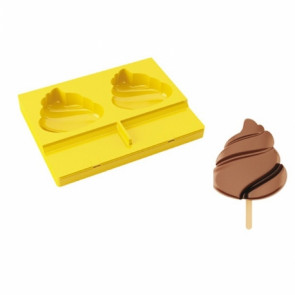 Honolulu Pavogel ice cream mold with 50 sticks by Pavoni Professional