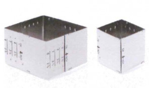 Adjustable square mould stainless steel from 5,5 to 9 cm