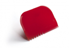 Red pastry scraper by Pavoni Professional