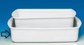 Large rectangular porcelain ovenproof dish Line Pirofile di Royale