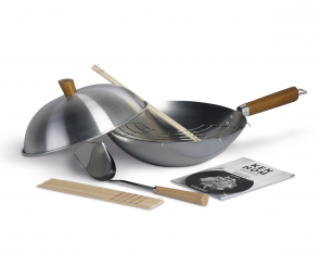 Set 10 pezzi Wok Classic in acciaio al carbonio da stagionare di Ken Hom
