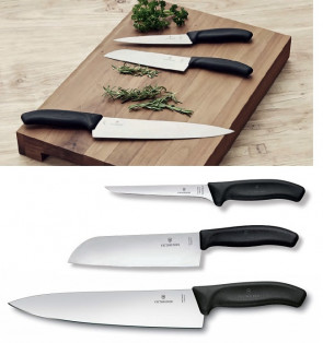 Creative Food: Set 3 Coltelli Serie Swiss Classic di Victorinox