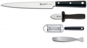 Ambrogio Sanelli Fish Preparation Set: Yanagiba Hasaki Series Knife + accessories