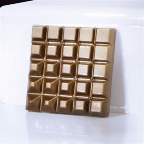 Polycarbonate mold for chocolate bars Square 50 grams by Martellato