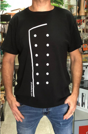 CHEF T-shirt Creative uniform with AFcoltellerie logo - Black colour