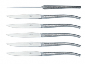 Set of 6 steak knives designed in collaboration with Philippe Starck of Forge de Laguiole®