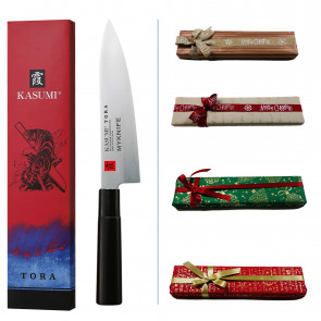 Kasumi Chef Gift Box: Tora Series Chef Knife + Name Laser Engraving + Gift wrapping paper