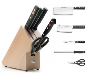 Knife block Asiatic with 5 pcs. Gourmet Series di Wusthof