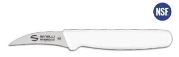 Coltello Spelucchino curvo manico bianco cm. 7 Supra di Sanelli Ambrogio