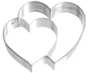 Moule découpe-pâte cœur double en inox
