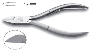 Coupe-ongle professionnel en acier inox pour ongles incarnés pointe à feuille