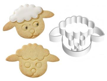 Coupe-pâte Moule Tête d'agneau avec empreinte en inox