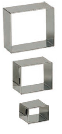 Set 3 coupe-pâte inox Rectangle