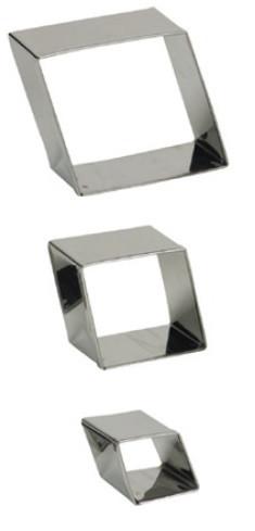 Set 3 tagliapasta inox Rombo-Diamante