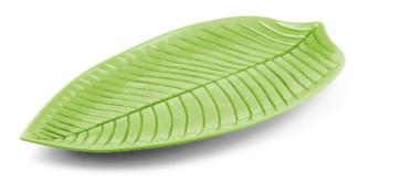 Piatto grande Foglia Colore Verde in melanina