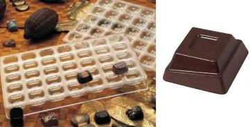 Stampo in policarbonato per cioccolatino Quadrotto