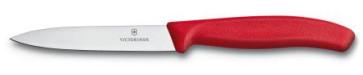 Spelucchino lama liscia cm. 10 manico rosso serie Swiss Classic di Victorinox