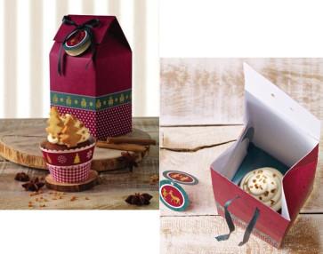 Scatola regalo piccola Natale Cup Cake