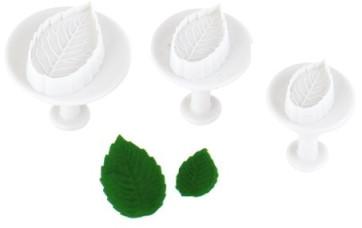 Découpe-pâte pour Feuilles en sucre avec éjection paquet de 3 pièces