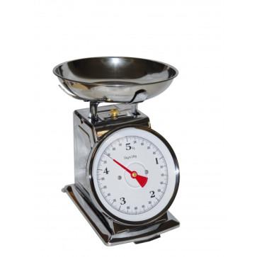 Balance de cuisine mécanique inox Poids maximum 5 kg