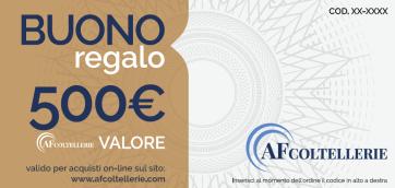 Carte Cadeau du valeur de € 500,00