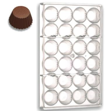 Stampo in policarbonato cioccolatini Bicchierini Rigati