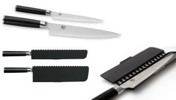 Set de 2 couteaux damassés Kai Shun Classic + étuis magnétiques