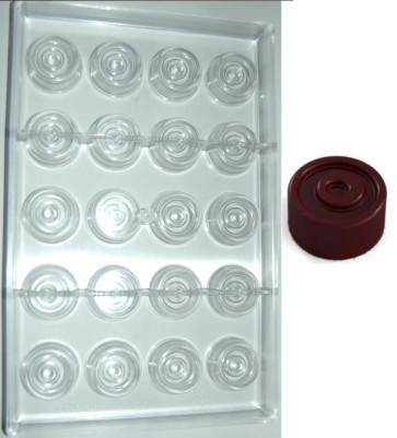 Stampo in policarbonato cioccolatino Tondo Twister