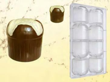 Stampo in policarbonato per cioccolato Piccoli Panettoni