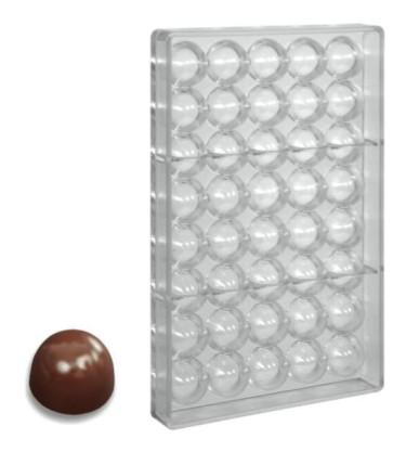 Stampo per cioccolato in policarbonato Semisfera alta
