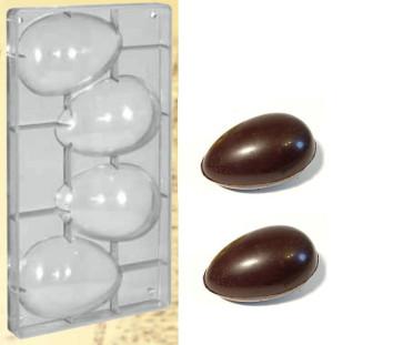 Stampo in policarbonato Uova di Pasqua Peso 100 Gr