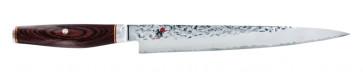 Couteau 3 couches Sujihiki lame cm. 24 martelée Série Miyabi 6000 MCT