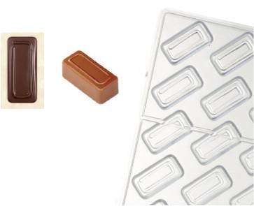 Moule en polycarbonate pour chocolat  Ligne Artisanal Rectangle Ligne