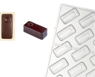 Stampo in policarbonato per cioccolato Linea Artisanal Rettangolo Punto