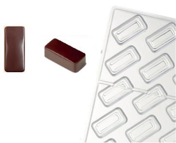Stampo in policarbonato per cioccolato Linea Artisanal Rettangolo Liscio