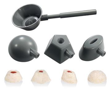 Cuillère à portions 4 formes, pour riz, légumes, légumes secs