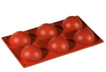 Moules en silicone multi-portion 6 demi-sphères